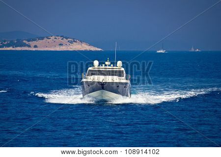 Yacht View On Bule Sea