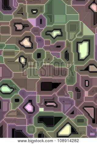 Artificial computer electronic scheme illustration