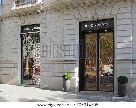 Louis Vuitton Luxury Store In Barcelona