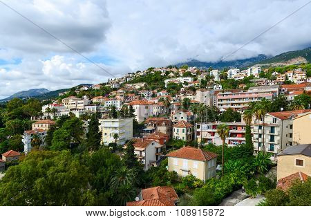 View Of Herceg Novi From Fortress Wall Of Forte Mare