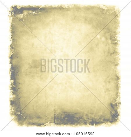 Grunge, Vintage, Old Paper Background. Illustration Of Aged, Worn And Stained Paper Scrap Texture. F