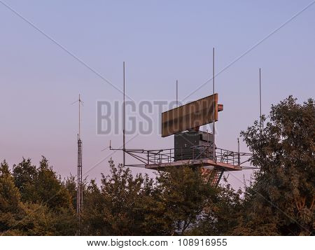 Airport Antenna Hidden In Bush