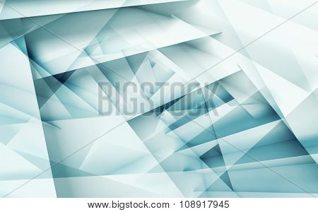 Abstract Digital Geometric Background 3D Art