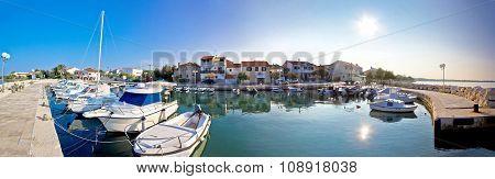 Adriatic Village Of Diklo Panoramic View