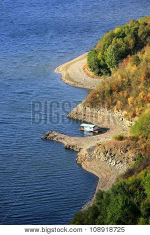 Nice Bakota lake shore, West Ukraine.