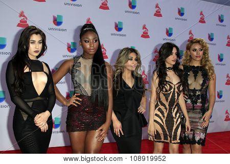 LAS VEGAS - NOV 19:  Fifth Harmony at the 16th Latin GRAMMY Awards at the MGM Grand Garden Arena on November 19, 2015 in Las Vegas, NV
