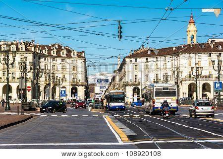 Piazza Vittorio in Turin, Italy