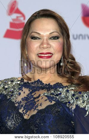 LAS VEGAS - NOV 19:  Angela Carrasco at the 16th Latin GRAMMY Awards at the MGM Grand Garden Arena on November 19, 2015 in Las Vegas, NV