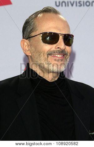 LAS VEGAS - NOV 19:  Miguel Bose at the 16th Latin GRAMMY Awards at the MGM Grand Garden Arena on November 19, 2015 in Las Vegas, NV