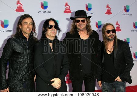 LAS VEGAS - NOV 19:  Mana at the 16th Latin GRAMMY Awards at the MGM Grand Garden Arena on November 19, 2015 in Las Vegas, NV