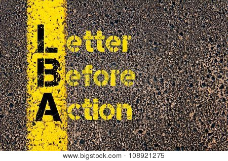 Business Acronym Lba As Letter Before Action