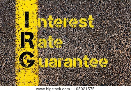 Business Acronym Irg As Interest Rate Guarantee