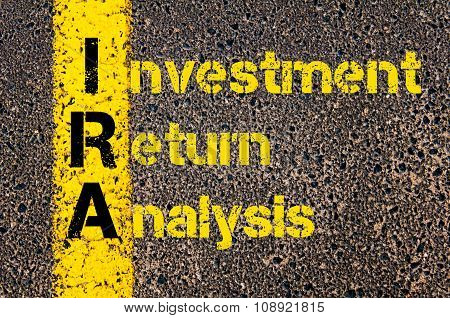 Business Acronym Ira As Investment Return Analysis