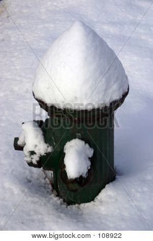 Snow-capped Fire Hydrant