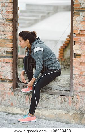 Fitness Woman Getting Ready For Outdoor Workout