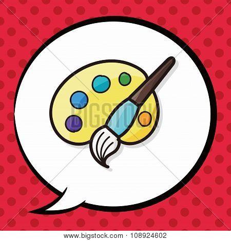 Palette Color Doodle
