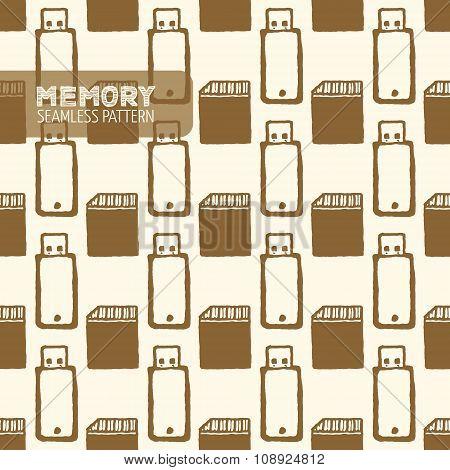Flash memory seamless pattern