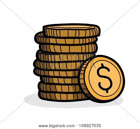 Stack of Coins (Dollar)
