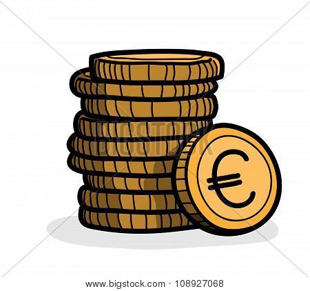 Stack of Coin (Euro)