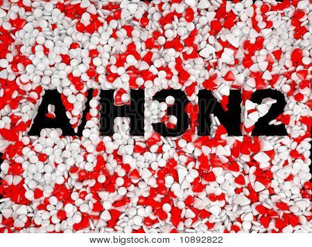 Swine Flu H3N2 Epidemic Pills Background