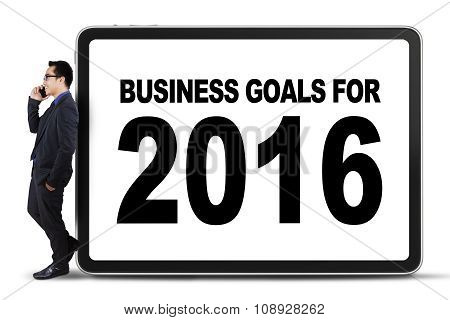 Male Worker And Business Goals For 2016