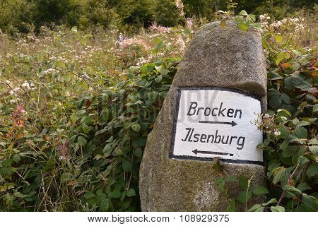 signpost on a hiking trail