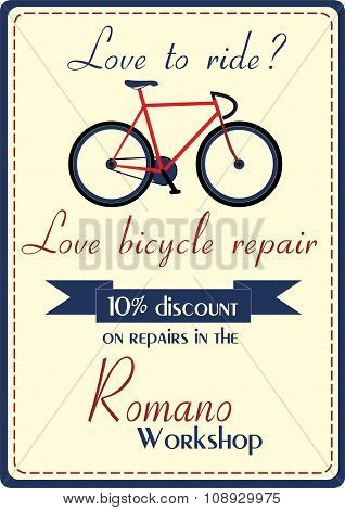 Bicycle repair poster
