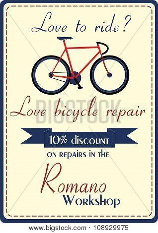 Bicycle repair poster