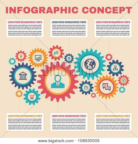 Infographic business concept.
