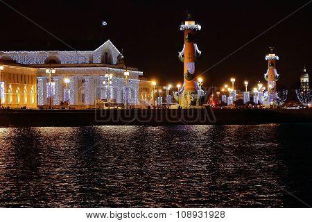 River And Bridge In Sankt Petersburg