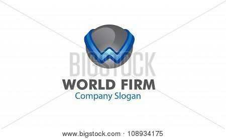 World Firm Creative And Symbolic Logo Design Illustration