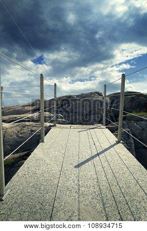 bridge on cliff backlight