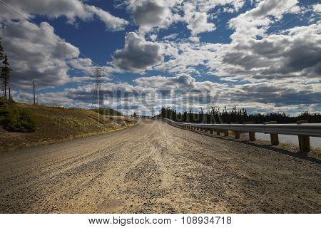 Canada desert road in slope