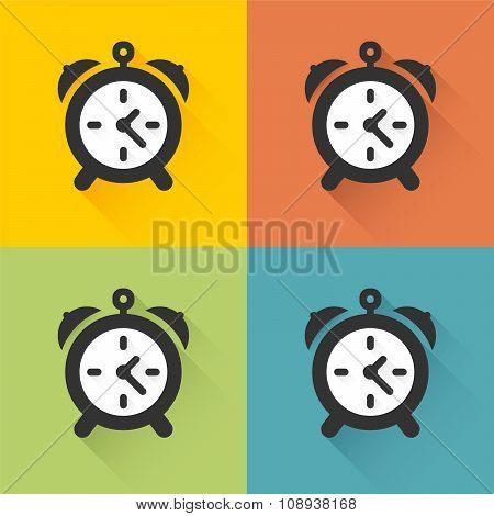 Four Colored Icons Alarm Clock
