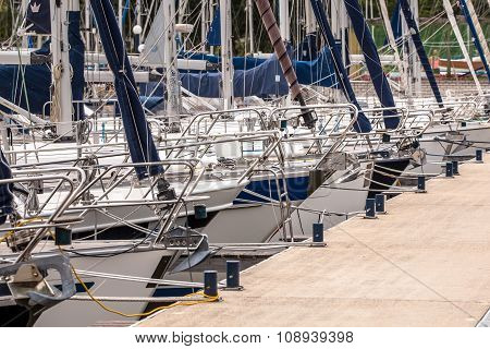 Bows Of Sailing Yachts