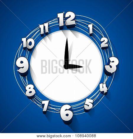 Creative abstract clock