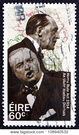 Postage Stamp Ireland 2014 Edward Carson And John Redmond