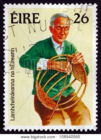 Postage Stamp Ireland 1983 Basket Weaving