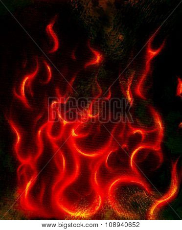 Beautiful abstract fiery on a black background