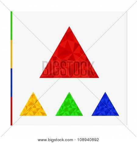 Geometric shape from triangles. Set of triangles