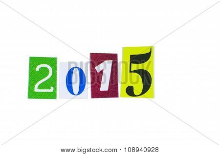 Paper Cutout 2015 Year Number