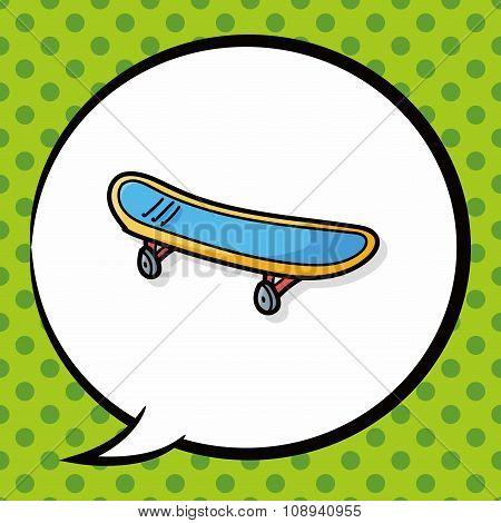 Skateboard Doodle