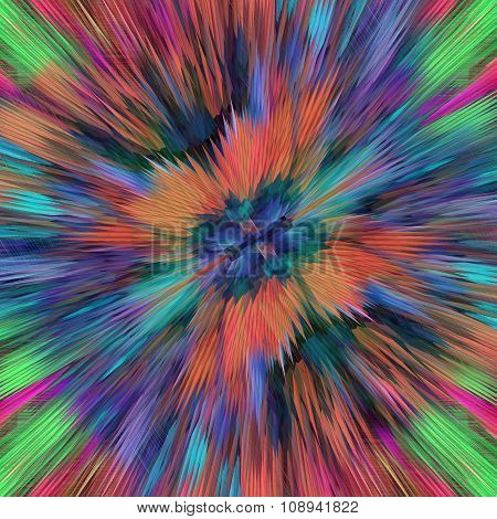 Bright Colored Abstract Explosion