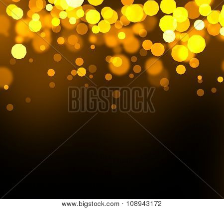 Golden Abstract Bokeh