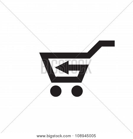 Basket vector icon sign. Shopping cart vector icon sign. Trolley vector icon sign.