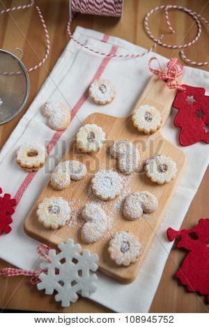 Home made linzer cookies