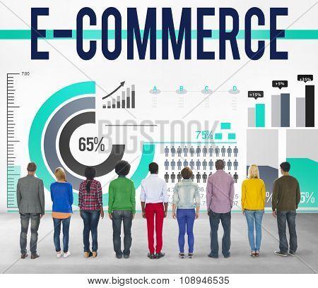 E-commerce Networking Global Communication Website Concept