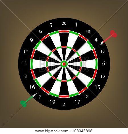 Two Darts At The Dart Board