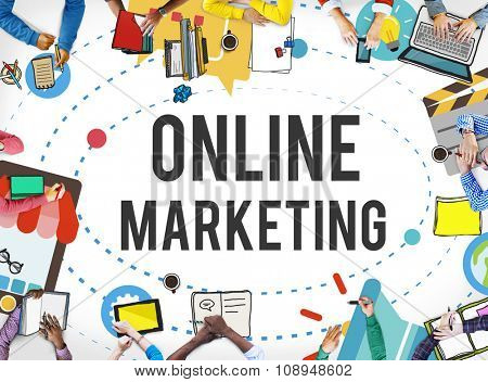 Online Marketing Promotion Campaign Technology Concept