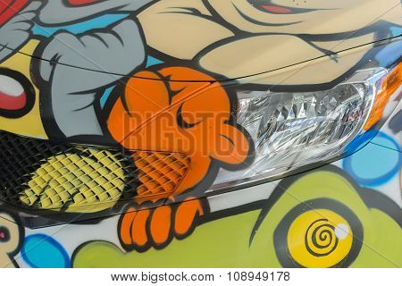 Nissan Versa Painted By Artists
